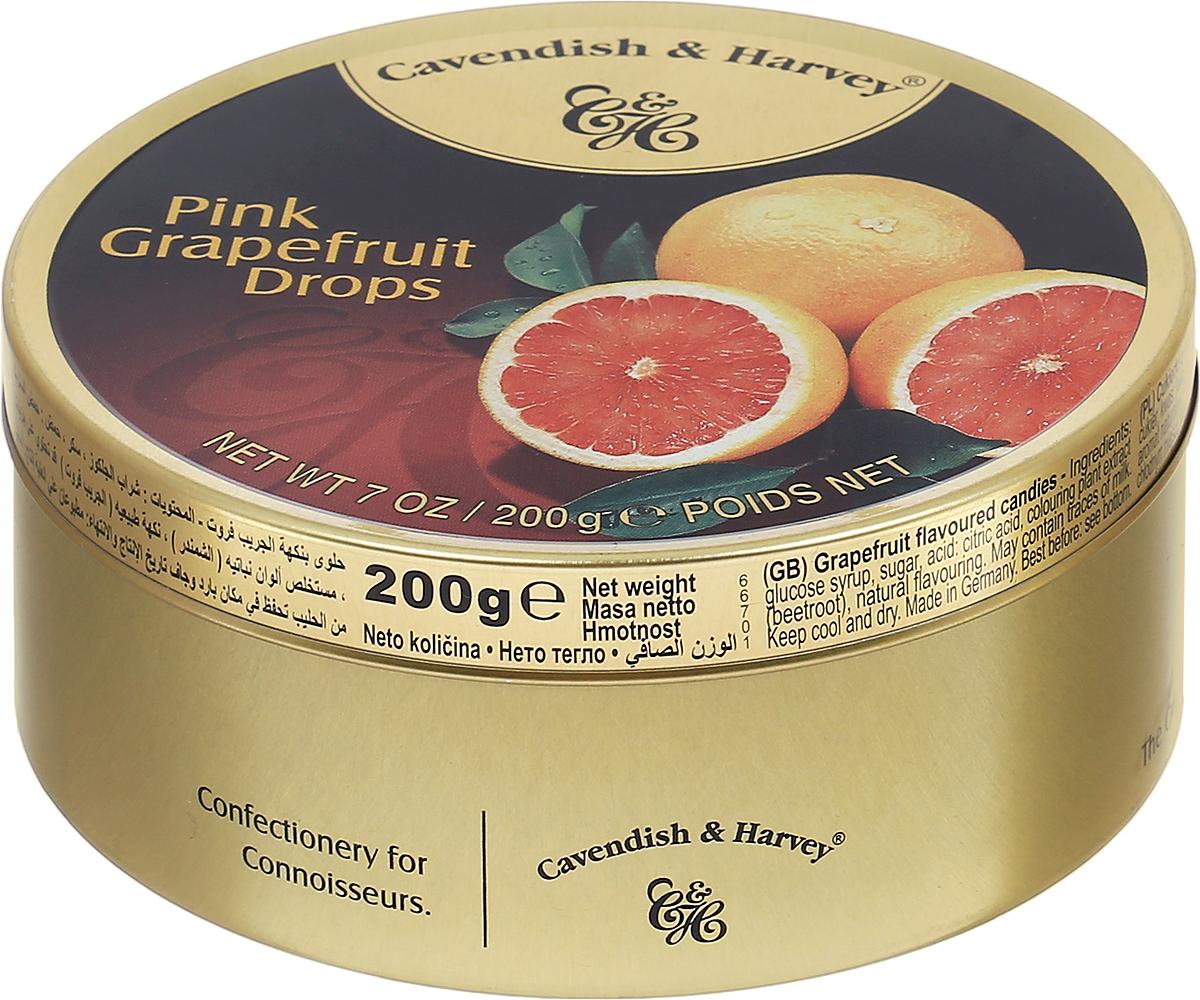 Cavendish & Harvey Розовый грейпфрут леденцы, 200 г6.3.08/1Любите грейпфрут, но не любите его чистить? Леденцы Cavendish & Harvey Розовый грейпфрут - это великолепный вкус настоящего сочного грейпфрута!Эти леденцы очень удобно брать с собой в путешествие, возить в автомобиле и хранить на рабочем месте, поскольку жестяная банка надежно закрывается и не занимает много места.Уважаемые клиенты! Обращаем ваше внимание, что полный перечень состава продукта представлен на дополнительном изображении.