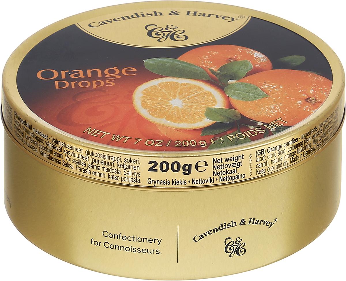 Cavendish & Harvey Апельсин леденцы, 200 г6.3.04/1Потрясающий аромат и ярко-оранжевый цвет апельсиновых конфет - вот истинное наслаждение для любителей изысканных сладостей.Эти леденцы очень удобно брать с собой в путешествие, возить в автомобиле и хранить на рабочем месте, поскольку жестяная банка надежно закрывается и не занимает много места.Уважаемые клиенты! Обращаем ваше внимание, что полный перечень состава продукта представлен на дополнительном изображении.