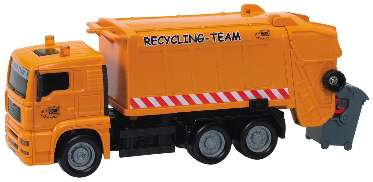 Dickie Toys Мусоровоз MAN City Team dickie toys мусоровоз heavy city truck