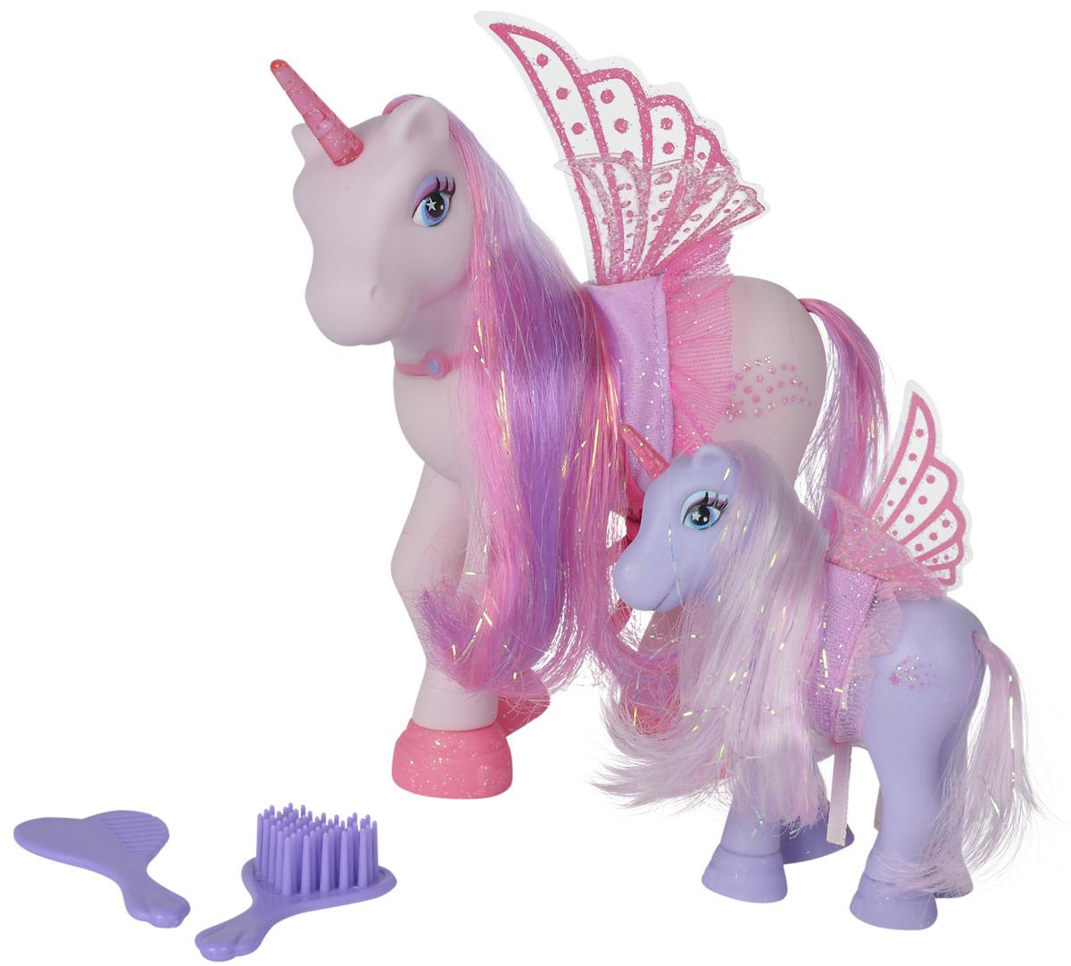 Simba Набор фигурок Сказочные пони-феи цвет светло-фиолетовый светло-розовый 2 шт автотрек dickie simba 3083077 спайдер мэн