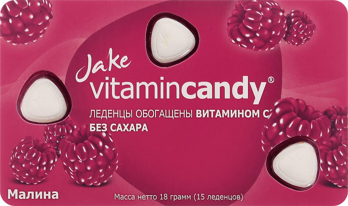 Jake Vitamin C леденцы со вкусом малины, 18 г jake vitamin c леденцы со вкусом винограда 18 г