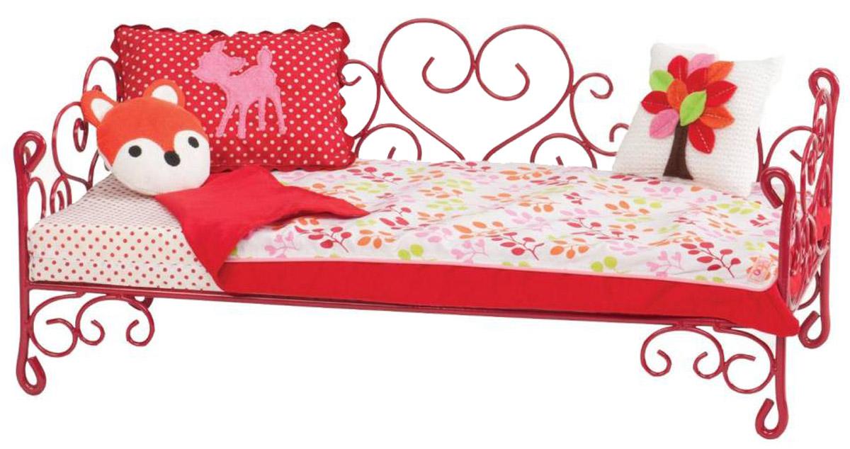 Our Generation Кровать с аксессуарами для кукол цвет красный свитшот z generation
