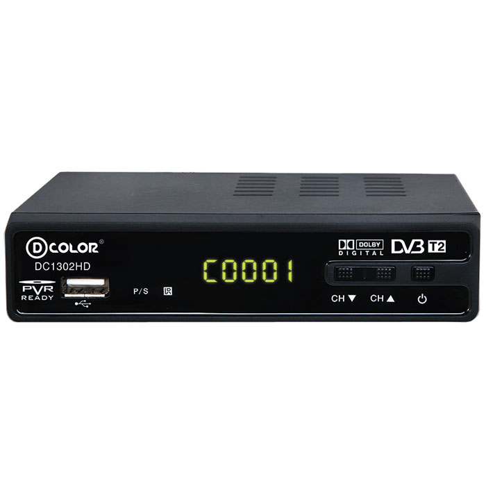 D-Color DC1302HD DVB-T2 цифровой ТВ-тюнер d color mstar 7t01 dc902hd