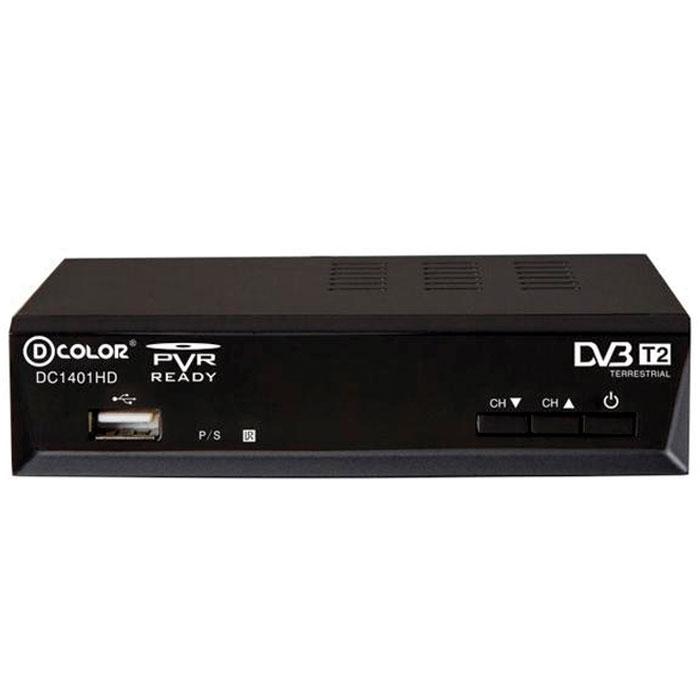 D-Color DC1401HD DVB-T2 цифровой ТВ-тюнер6907325814012Цифровой ТВ-тюнер D-Color DC1401HD отвечает всем самым современным требованиям к цифровым ресиверам. Новейшее ПО и качественные комплектующие позволяют передавать четкую, яркую, сочную картинку даже в самых отдаленных регионах России.Процессор: Ali 3812 со встроенным демодулятором Panasonic Mn88472 Тип корпуса: металлический Диапазон принимаемых частот: 174-862 MГц
