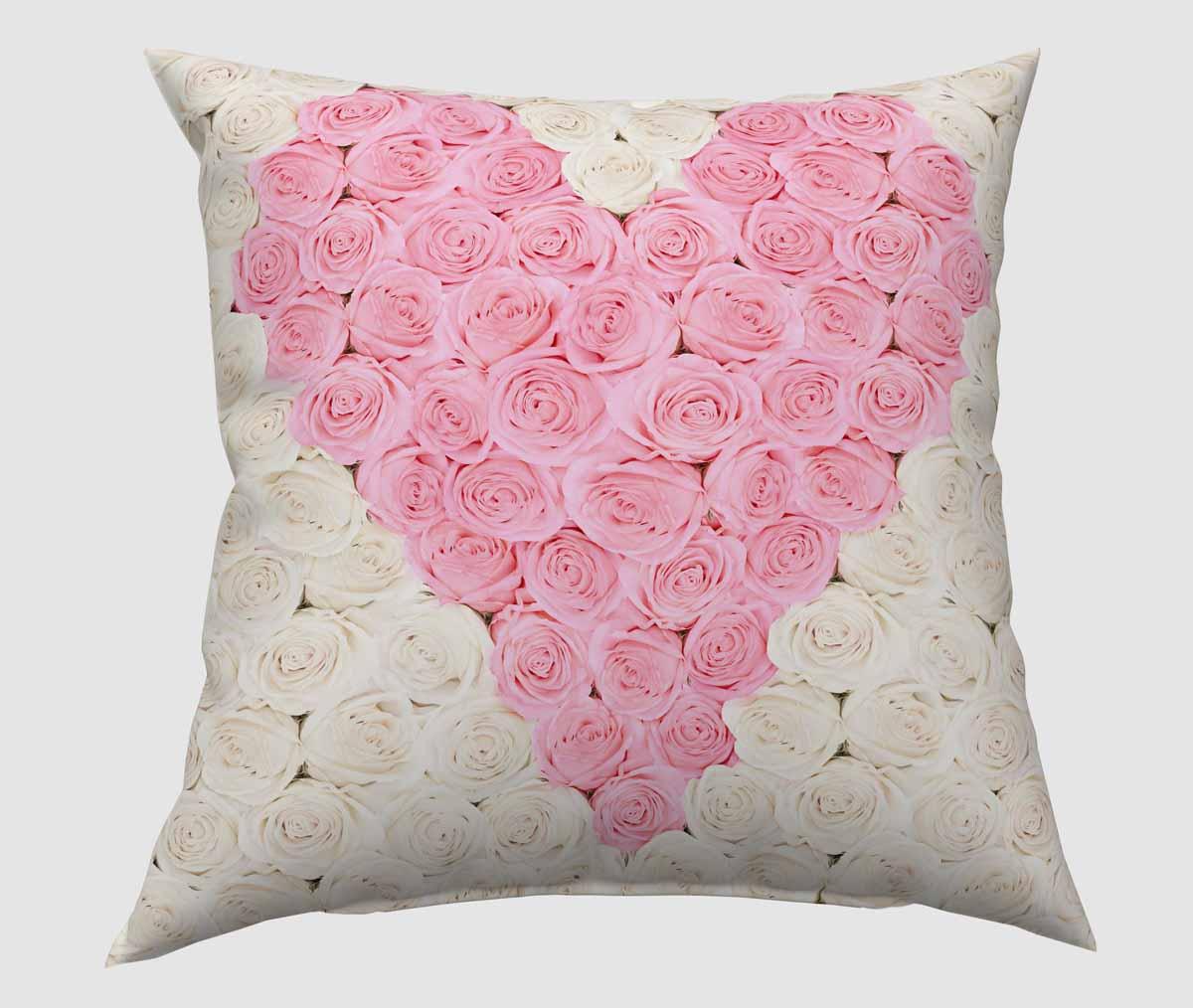 Подушка декоративная Сирень Сердце из роз , 40 х 40 см01145-ПШ-ГБ-012Декоративная подушка Сирень Сердце из роз, изготовленная из габардина (100% полиэстер), прекрасно дополнит интерьер спальни или гостиной. Подушка оформлена красочным изображением. Внутри - мягкий наполнитель из холлофайбера (100% полиэстер). Красивая подушка создаст атмосферу тепла и уюта в спальне и станет прекрасным элементом декора.
