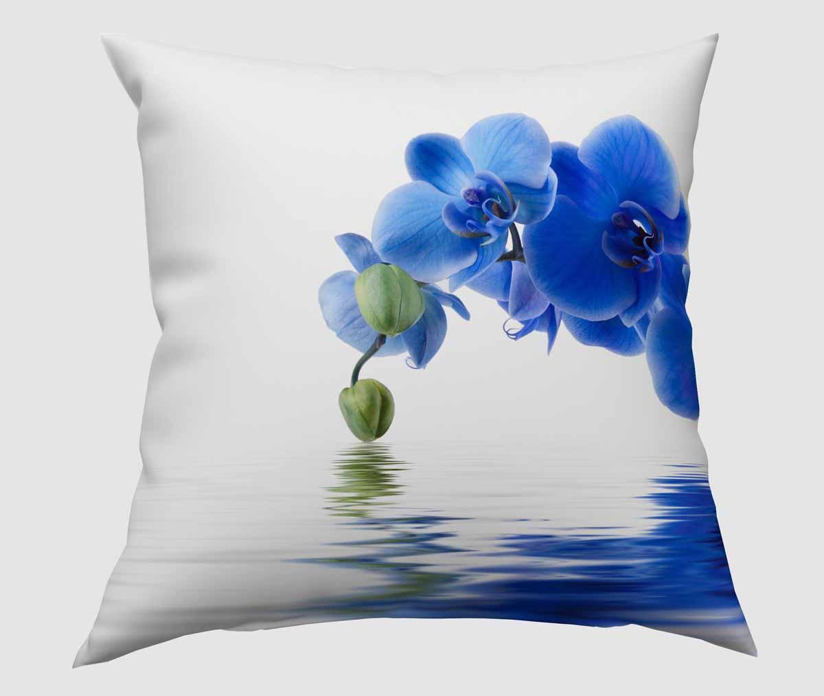 Подушка декоративная Сирень Синяя орхидея, 40 х 40 см fosta подушка надувная с вырезом под голову f8052 синяя 42 х 27 5 см