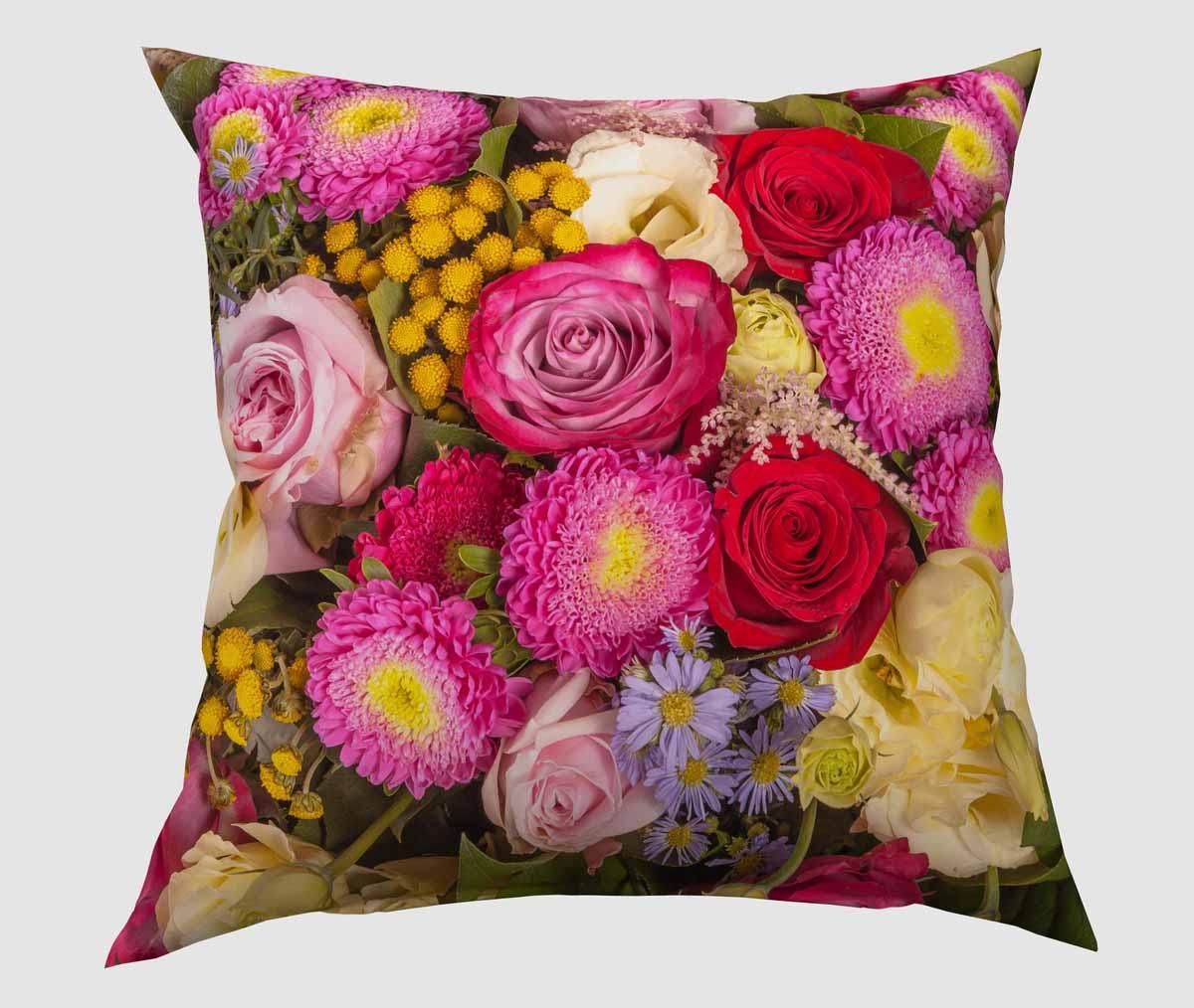 Подушка декоративная Сирень Красочный букет, 40 х 40 см картины сирень картина ароматный букет
