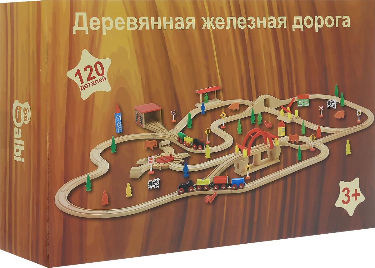 Balbi Деревянная железная дорога 120 деталей balbi железная дорога 145 деталей