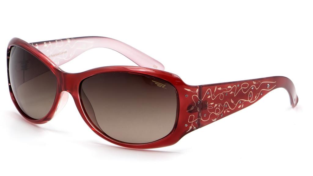Очки поляризационные женские Legna, цвет: бордовый, коричневый. S8369B