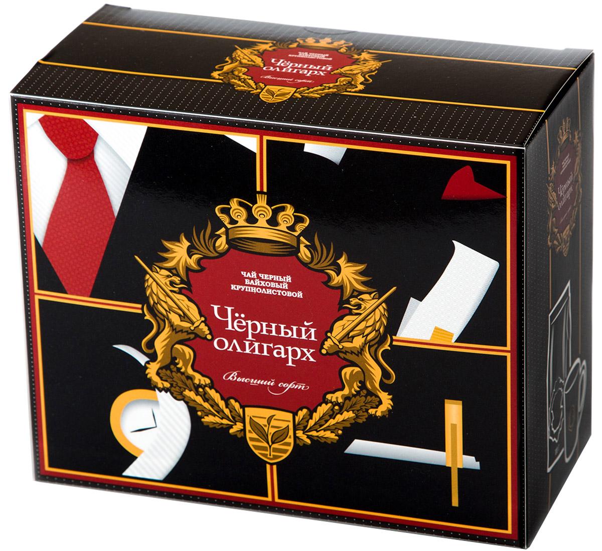 Черный Олигарх Набор подарочный чай черный крупнолистовой, 100 г + кружка 330 мл4612710550285Чай черный байховый крупно-листовой (стандарт ОРА) высшего качества. Место произрастания чайного листа - Юго-Восточная Азия. Обладает терпким насыщенным вкусом и красивым темно-красным цветом настоя.В комплекте кружка с логотипом.Всё о чае: сорта, факты, советы по выбору и употреблению. Статья OZON Гид