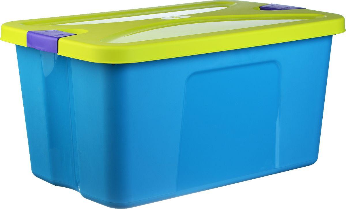 Idea Ящик для игрушек Секрет цвет синий 39 х 59 х 29,5 см idea ящик для игрушек моби цвет бирюзовый 41 5 х 60 х 32 см