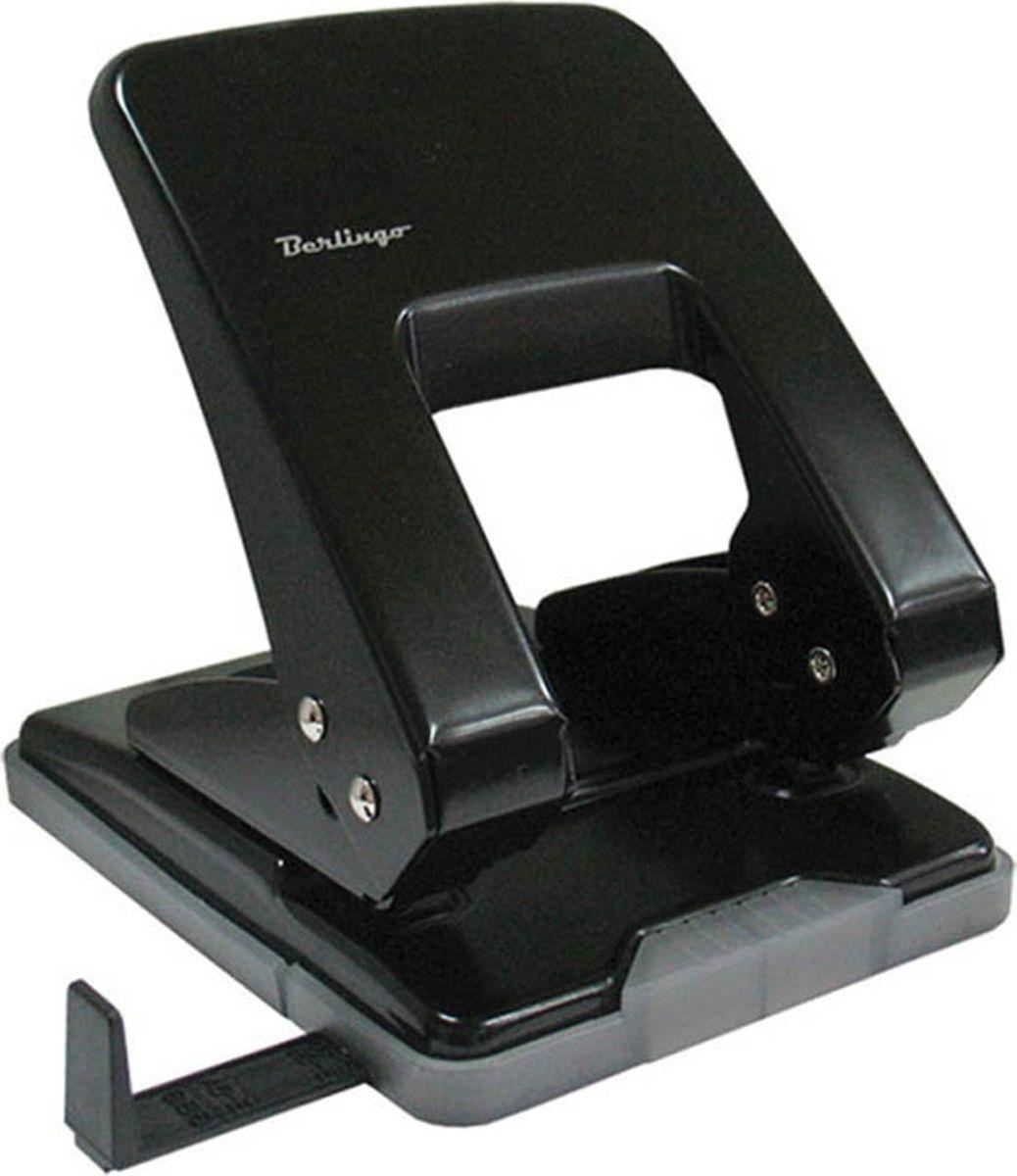 Berlingo Дырокол с линейкой на 40 листов цвет черныйDDm_40071Цельнометаллический дырокол Berlingo позволяет перфорировать документы для последующей подшивки. Надежный механизм, острые ножи. Форматная линейка. Удобный пластиковый поддон для конфетти. Блокировка для компактного хранения. Пробивная способность до 40 листов.Диаметр прокола: 6 мм. Шаг перфорации: 80 мм.