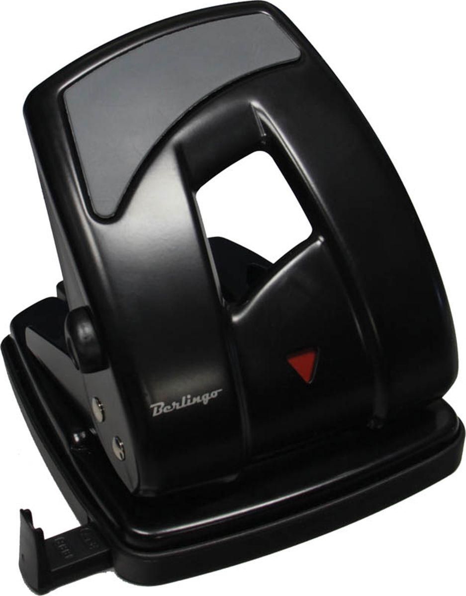 Berlingo Дырокол Ultra с линейкой на 40 листов цвет черный дырокол deli pro e0120 40 листов в ассортименте