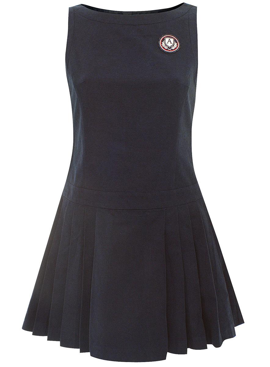 Платье oodji Ultra, цвет: темно-синий. 11902110/22454/2979G. Размер 36-164 (42-164)