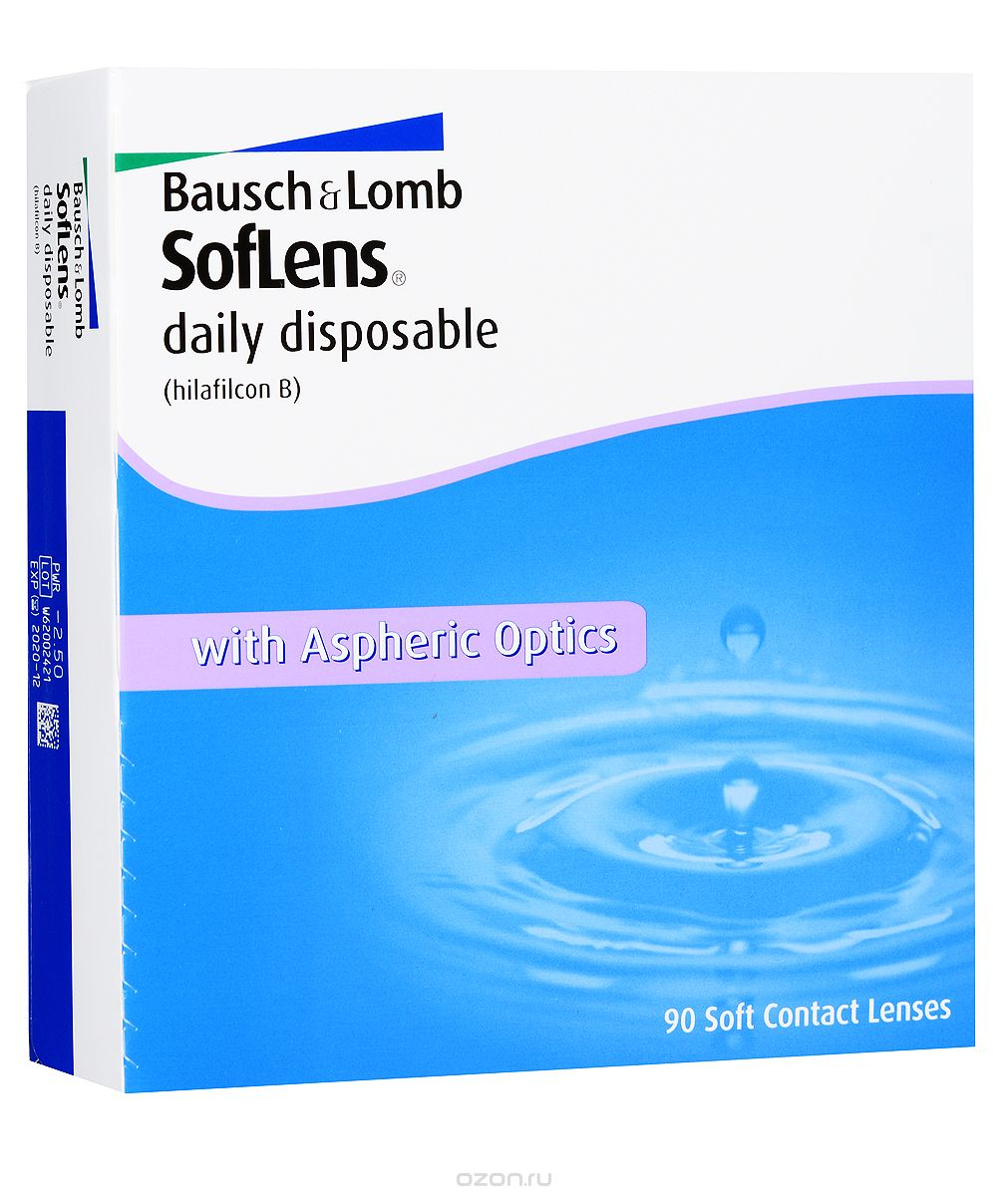 Bausch + Lomb контактные линзы Soflens Daily Disposable (90шт / 8.6 / -3.00)