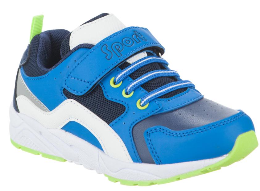 Кроссовки для мальчика Kapika, цвет: синий. 73305-2. Размер 3173305-2Кроссовки Kapika выполнены из экокожи и сетчатого текстиля. На ноге модель фиксируется с помощью эластичной шнуровки и ремешка с застежкой-липучкой, оформленного тисненой надписью с названием бренда. Ярлычок на заднике облегчит надевание модели. Внутренняя поверхность выполнена из сетчатого текстиля, комфортного при движении. Стелька выполнена из легкого ЭВА-материала с поверхностью из натуральной кожи и дополнена супинатором с перфорацией, который обеспечивает правильное положение ноги ребенка при ходьбе, предотвращает плоскостопие. Подошва изготовлена из ЭВА материала. Поверхность подошвы выполнена из прочного ТЭП-материала и дополнена рельефным рисунком.