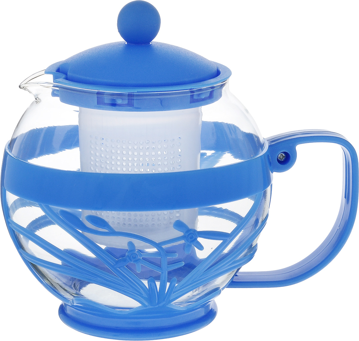 Чайник заварочный Wellberg Aqual, с фильтром, цвет: прозрачный, синий, 800 мл361 WBЗаварочный чайник Wellberg Aqual изготовлен из высококачественного пластика и жаропрочного стекла. Чайник имеет пластиковый фильтр и оснащен удобной ручкой. Он прекрасно подойдет для заваривания чая и травяных напитков. Такой заварочный чайник займет достойное место на вашей кухне.Высота чайника (без учета крышки): 11,5 см.Высота чайника (с учетом крышки): 14 см. Диаметр (по верхнему краю) 7 см.