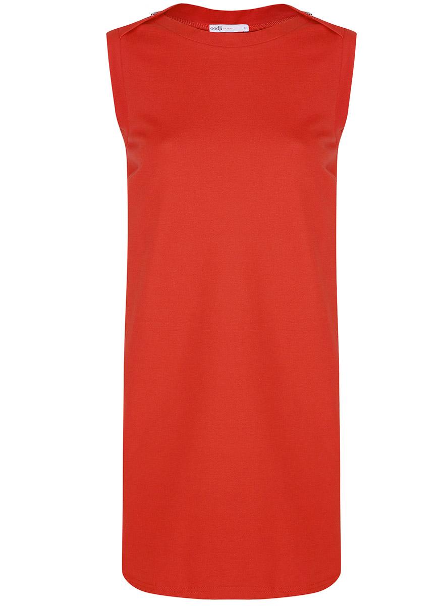 цены Платье oodji Ultra, цвет: красный. 14005074-1B/46149/4500N. Размер S (44-170)