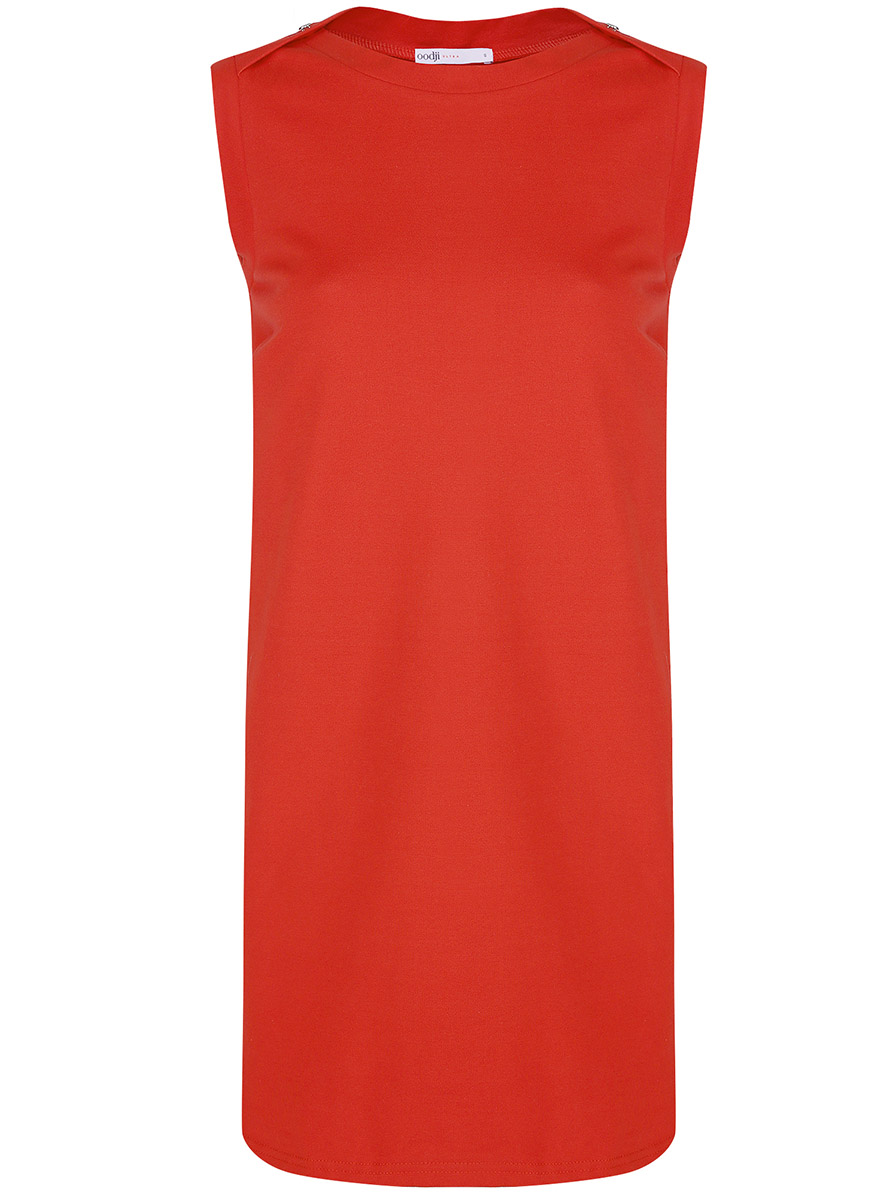 Платье oodji Ultra, цвет: красный. 14005074-1B/46149/4500N. Размер XXS (40-170)