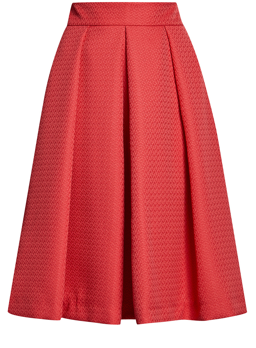 Юбка oodji Collection, цвет: красный. 21600300/45367/4500N. Размер 46-170 (52-170) платье oodji collection цвет красный 21902060 4 14917 4500n размер 40 170 46 170