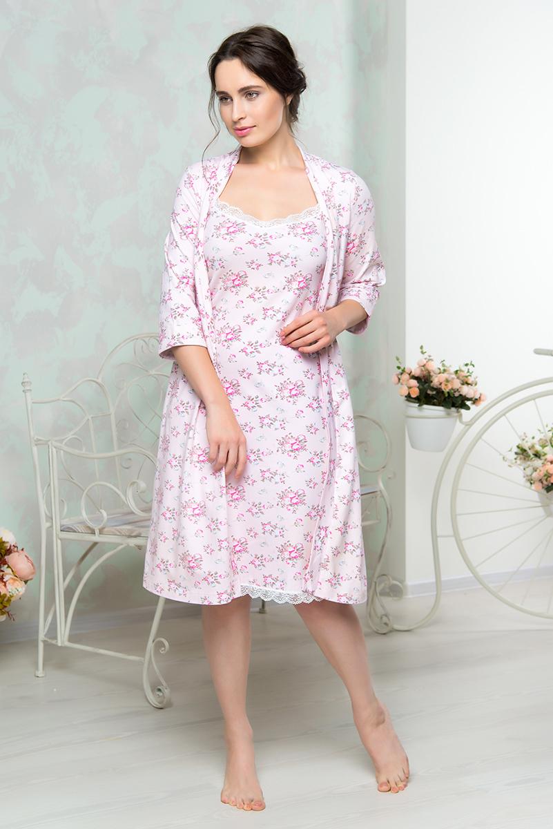 Купить Халат женский Mia Cara, цвет: розовый. AW16-MCUZ-850. Размер 50/52