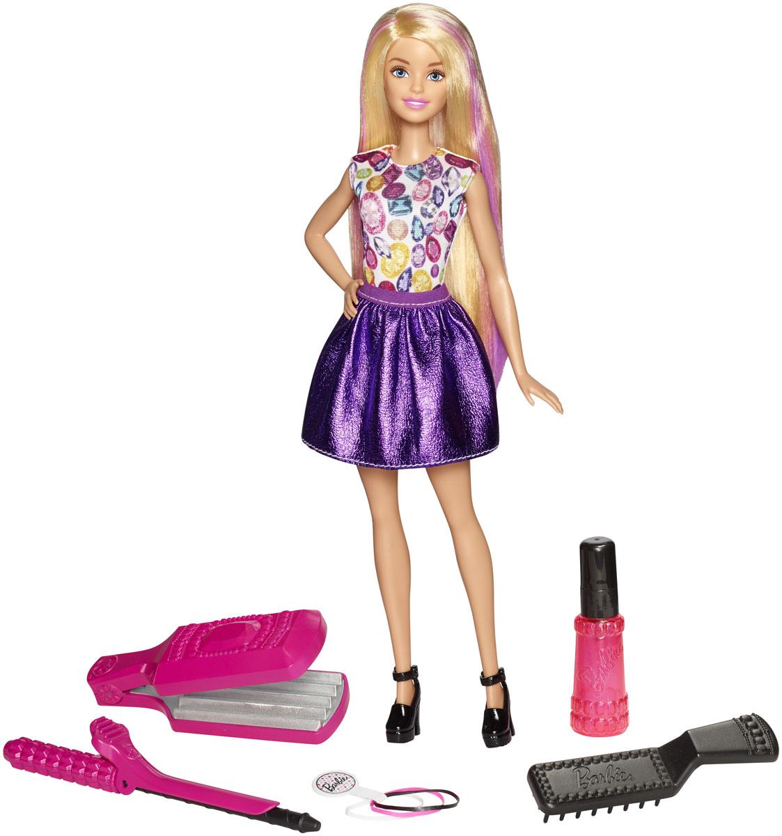 Barbie Кукла Цветные локоны плойка harizma professional h10219 glory фен плойка 1 шт