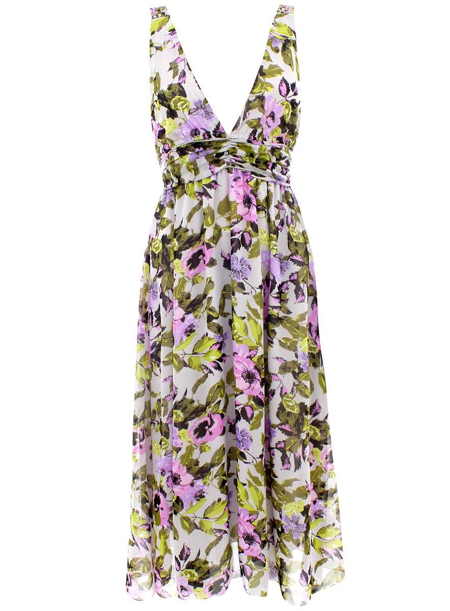 Сарафан oodji Collection, цвет: светло-серый, светло-розовый. 21903011/15463/2040F. Размер 36-170 (42-170) canon 2040