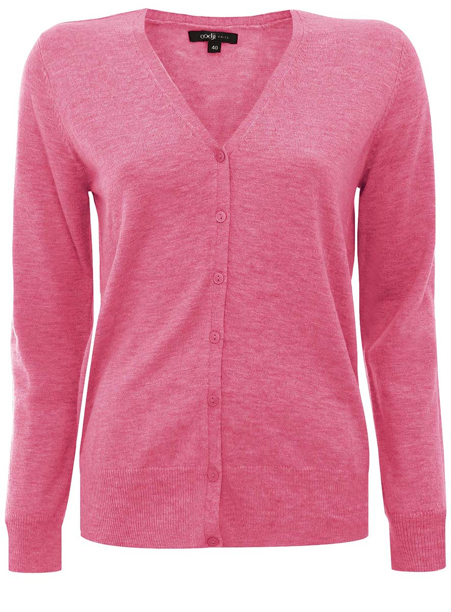 Жакет женский oodji Collection, цвет: розовый. 73212283-1/35162/4100N. Размер 42 (48)