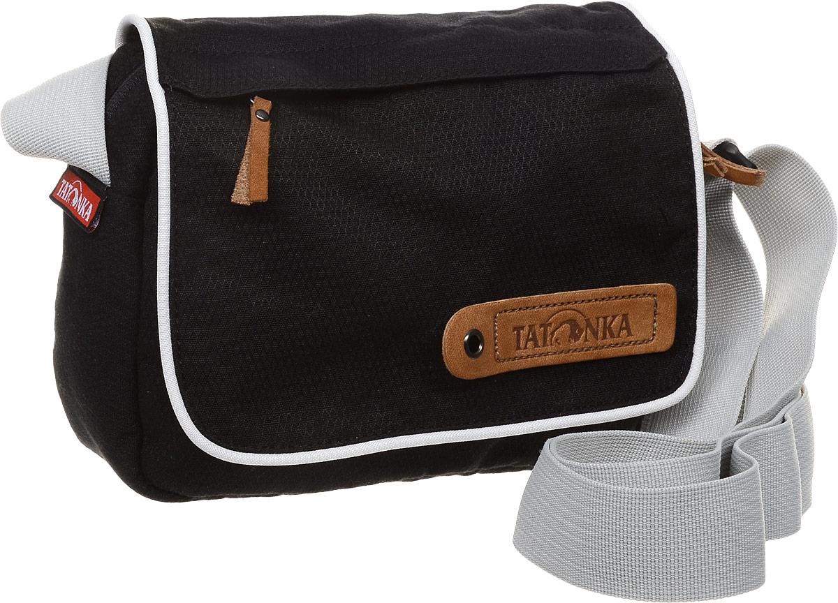 Сумка на плечо Tatonka Cavalier, цвет: черный, светло-серый, 3 л сумка для медикаментов tatonka first aid family цвет красный