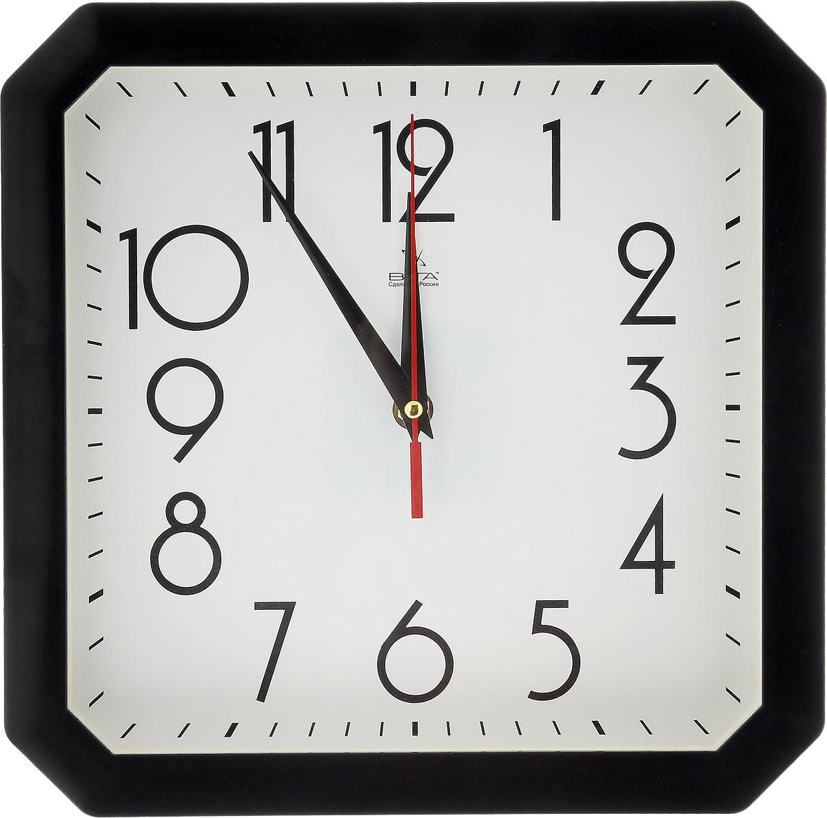 Часы настенные Вега Классика, цвет: черный, белый, 28 х 28 смП4-6/7-81Настенные кварцевые часы Вега Классика,изготовленные из пластика, прекрасно впишутся винтерьервашего дома. Часы имеют три стрелки: часовую,минутную и секундную, циферблат защищен прозрачнымстеклом.Часы работают от 1 батарейки типа АА напряжением 1,5 В(не входит в комплект). Прилагается инструкция по эксплуатации.