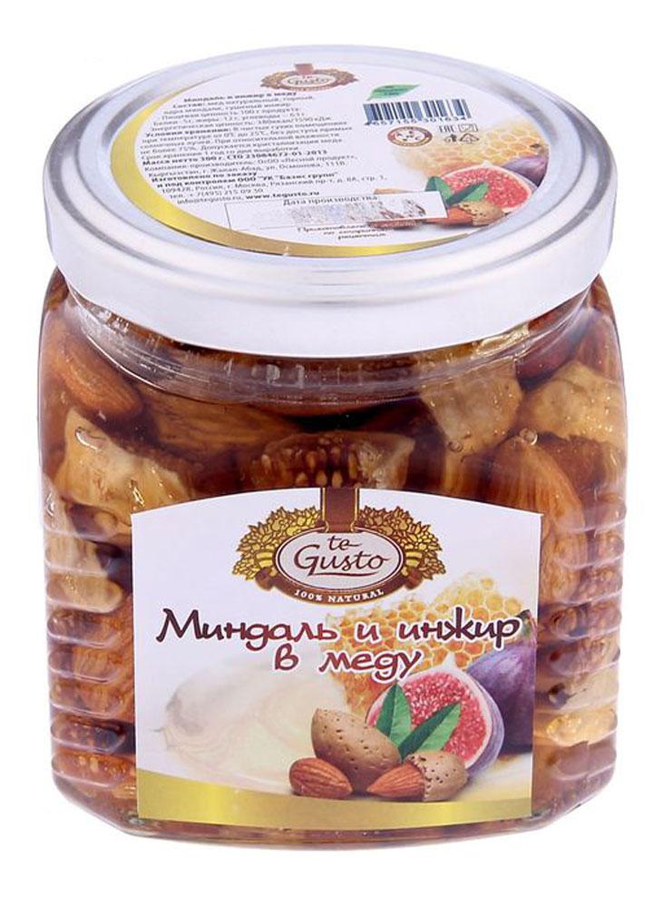 te Gusto Миндаль и инжир в меду, 300 г te gusto грецкие орехи в меду 300 г