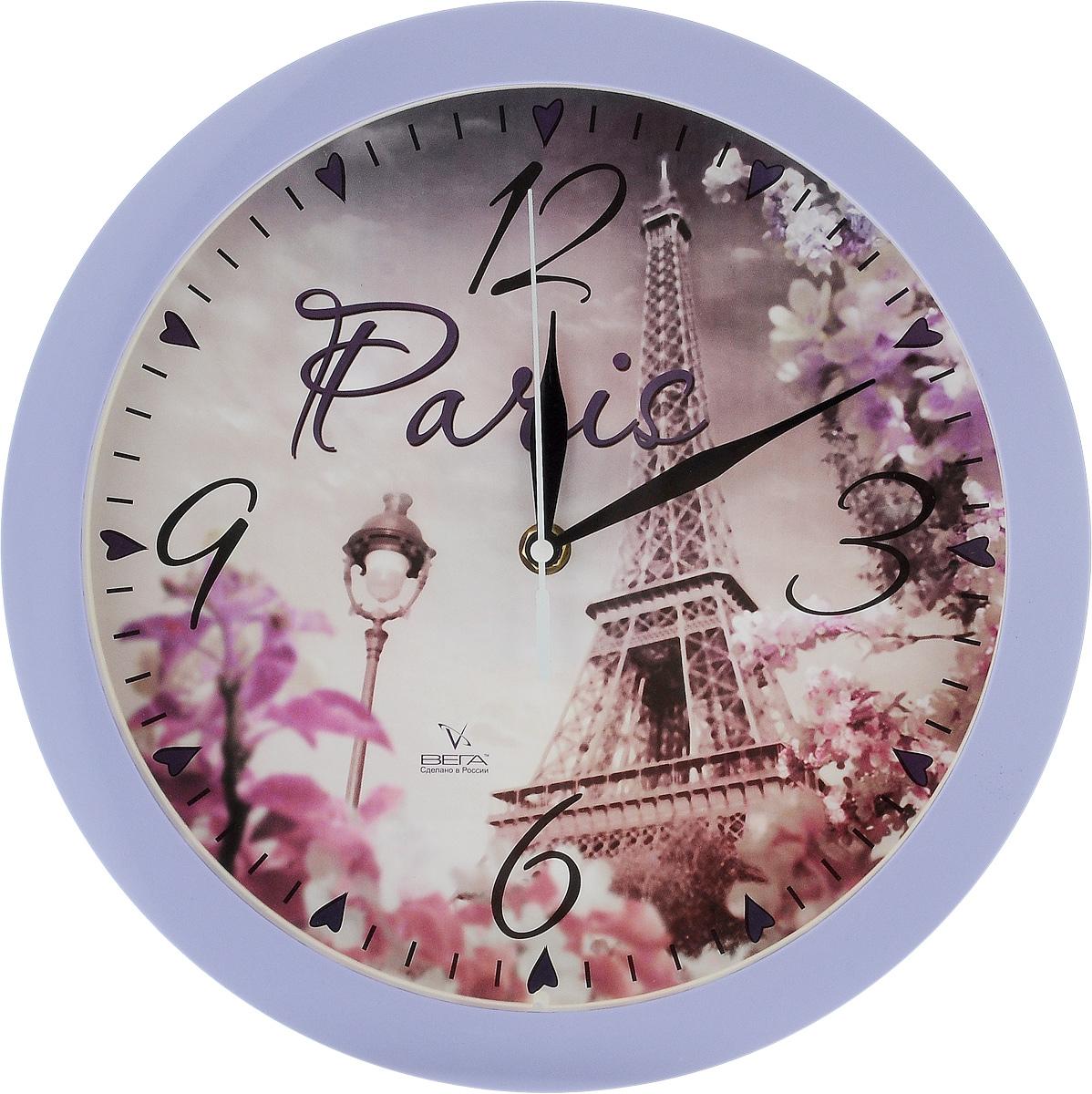 Часы настенные Вега Париж, диаметр 28,5 смП1-13/7-213Настенные кварцевые часы Вега Париж,изготовленные из пластика, прекрасно впишутся винтерьер вашего дома. Часы имеют три стрелки: часовую,минутную и секундную, циферблат защищен прозрачнымстеклом.Часы работают от 1 батарейки типа АА напряжением 1,5 В(не входит в комплект). Прилагается инструкция по эксплуатации.