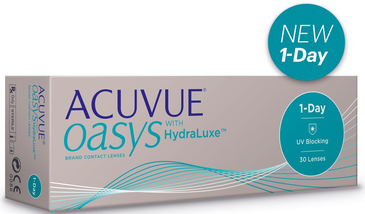 Johnson & Johnson контактные линзы 1-Day ACUVUE Oasys with Hydraluxe 30pk /Радиус 8.5 /Диоптрии -0.50