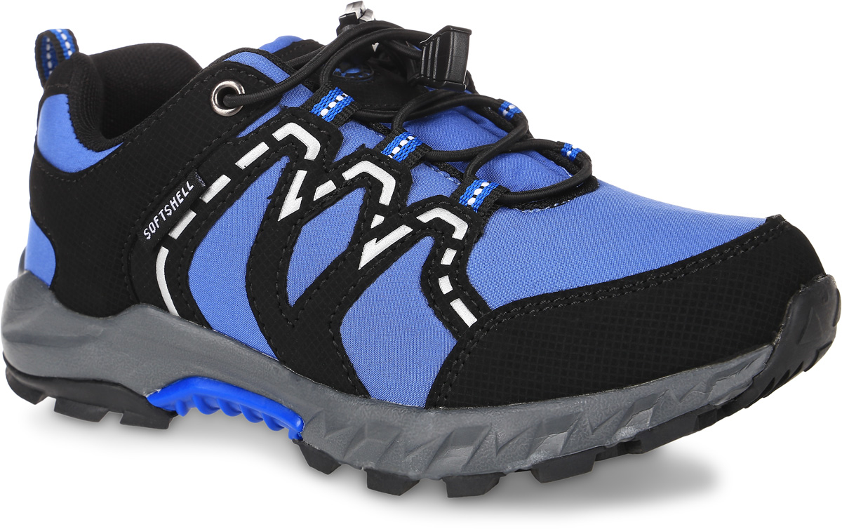 Кроссовки для мальчика Зебра, цвет: голубой, черный. 10973-6. Размер 3210973-6Кроссовки Зебра выполнены из текстиля с технологией SoftShell, которая обеспечивает ветро-влагонепроницаемую защиту. На ноге модель фиксируется с помощью эластичных шнурков со стоппером. Ярлычок на заднике облегчит надевание модели. Внутренняя поверхность выполнена из текстиля, комфортного при движении. Стелька выполнена из легкого ЭВА-материала с поверхностью из натуральной кожи и дополнена супинатором с перфорацией, который обеспечивает правильное положение ноги ребенка при ходьбе, предотвращает плоскостопие. Анатомическая стелька способствует правильному формированию скелета и анатомических сводов детской стопы, снижает общую усталость ног, уменьшает нагрузку на позвоночник, делает ходьбу ребенка легкой, приятной и комфортной. Подошва изготовлена из легкого материала ЭВА. Поверхность подошвы дополнена рельефным рисунком.