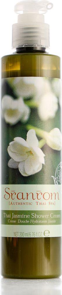 Sranrom Крем для душа Тайский жасмин 200 мл103-8005Отдохните, почувствуйте удовольствиеТайцы считают, что этот крошечный белый цветок обладает расслабляющим и восстанавливающим силы ароматом. Для того чтобы использовать его сенсорные преимущества, наши предки добавляли цветы Жасмина, когда принимали ванну, и в питьевую воду. Сегодня арома-терапевты подтверждают древние верования в то, что аромат Жасмина поднимает настроение. Поэтому мы добавили немного аромата Жасмина в экстракт Щитолистника, делающего кожу более упругой; и Алое Вера, обладающего увлажняющими свойствами, которые местные жители используют уже много веков, чтобы успокоить уставшую и чувствительную кожу. Попробуйте наш увлажняющий крем для душа, обладающий легким ароматом – вы почувствуете себя превосходно!