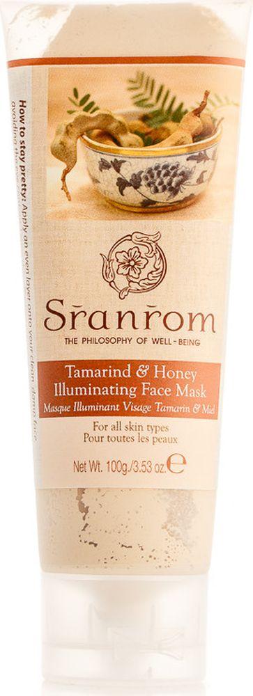 Sranrom Маска для лица Тамаринд и Мед иллюминирующая 100 гр мыло косметическое sranrom мыло тамаринд и мед 100 гр