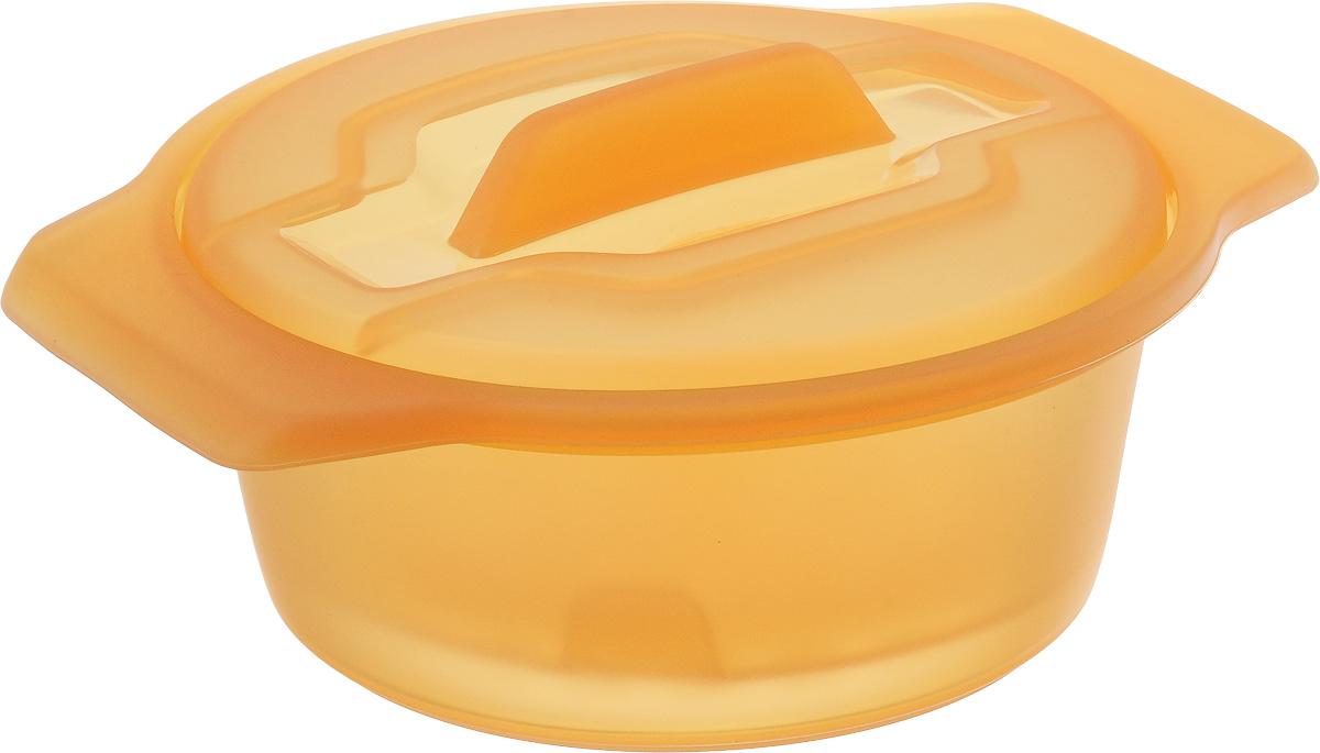 Контейнер-пароварка Tescoma Fusion Diet Revolution, силиконовый, цвет: оранжевый, диаметр 15 см638315_оранжевыйУникальная силиконовая пароварка с внутренней подставкой-решеткой и крышкой.Предназначена для приготовления низкокалорийных блюд на пару и в духовке.При приготовлении в посуде Fusion Diet Revolution внутри контейнеров создается интенсивный микроклимат, который придает блюдам ряд уникальных особенностей.Все предметы изготовлены из термостойкого силикона, выдерживают температуру до 230°С.Подходит для всех типов печей, в том числе микроволновой печи, а также для холодильника и морозильной камеры.Можно мыть в посудомоечной машине.В комплект входит книга с рецептами диетического питания. Диаметр контейнера: 15 см. Длина ручек: 2,5 см. Высота стенки контейнера: 7 см.