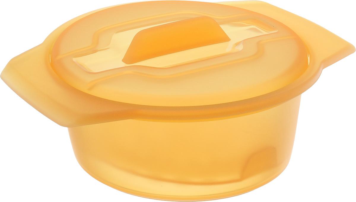 Контейнер-пароварка Tescoma Fusion Diet Revolution, силиконовый, цвет: оранжевый, диаметр 12 см638312_оранжевыйУникальная силиконовая пароварка с внутренней подставкой-решеткой и крышкой.Предназначена для приготовления низкокалорийных блюд на пару и в духовке.При приготовлении в посуде Fusion Diet Revolution внутри контейнеров создается интенсивный микроклимат, который придает блюдам ряд уникальных особенностей.Все предметы изготовлены из термостойкого силикона, выдерживают температуру до 230°С.Подходит для всех типов печей, в том числе микроволновой печи, а также для холодильника и морозильной камеры.Можно мыть в посудомоечной машине.В комплект входит книга с рецептами диетического питания. Диаметр контейнера: 12 см. Длина ручек: 2,5 см. Высота стенки контейнера: 6 см.