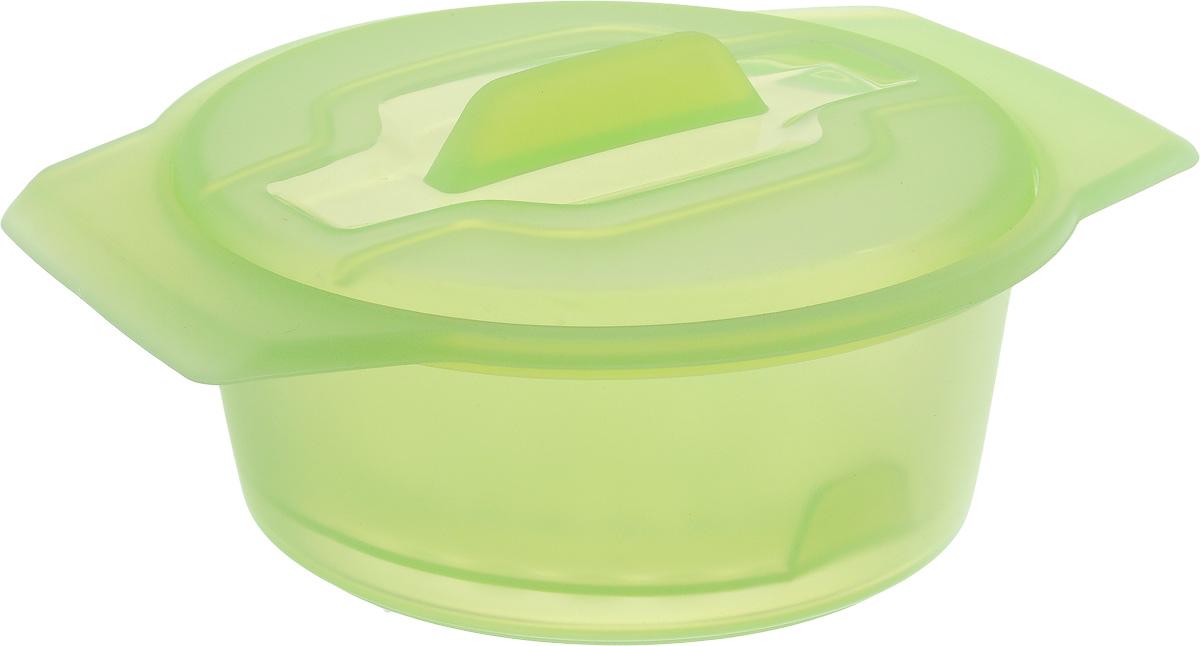Контейнер-пароварка Tescoma Fusion Diet Revolution, силиконовый, цвет: зеленый, диаметр 12 см638312_зеленыйУникальная силиконовая пароварка с внутренней подставкой-решеткой и крышкой.Предназначена для приготовления низкокалорийных блюд на пару и в духовке.При приготовлении в посуде Fusion Diet Revolution внутри контейнеров создается интенсивный микроклимат, который придает блюдам ряд уникальных особенностей.Все предметы изготовлены из термостойкого силикона, выдерживают температуру до 230°С.Подходит для всех типов печей, в том числе микроволновой печи, а также для холодильника и морозильной камеры.Можно мыть в посудомоечной машине.В комплект входит книга с рецептами диетического питания. Диаметр контейнера: 12 см. Длина ручек: 2,5 см. Высота стенки контейнера: 6 см.