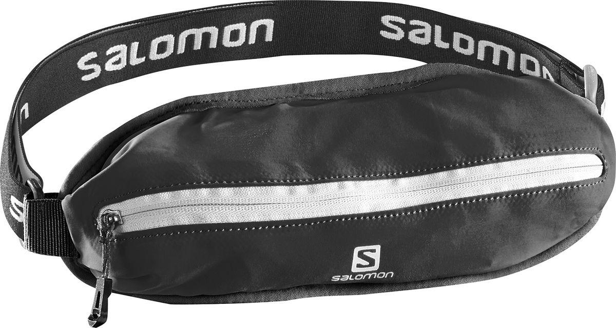 Сумка поясная Salomon Agile Single Belt, цвет: черныйL38255100Сумка поясная Salomon Agile Single Belt изготовлена из качественного полиамида. У сумки один передний карман на застежке-молнии. Суперэластичный пояс не смещается даже при беге и прыжках. Пояс отлично тянется, обеспечивая максимальный комфорт при беге. Как начать бегать: советы тренера. Статья OZON Гид