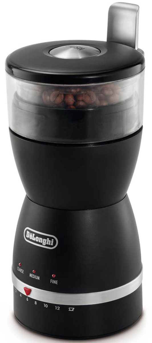 DeLonghi KG 49 кофемолкаKG49Безопасная кофемолка DeLonghi KG 49 с пластиковым корпусом и прочными лезвиями из нержавеющей стали.Лезвия из нержавеющей стали не деформируются, не ржавеют, не подвержены коррозии, легко моются и имеют максимально длительный срокслужбы. Благодаря корпусу из высококачественного пластика кофемолка устойчива к механическим воздействиям, может храниться в любомположении без коробки, очень надежна и удобна в использовании. Хорошая кофемолка - гарантия самого ароматного кофе в любое время дня.