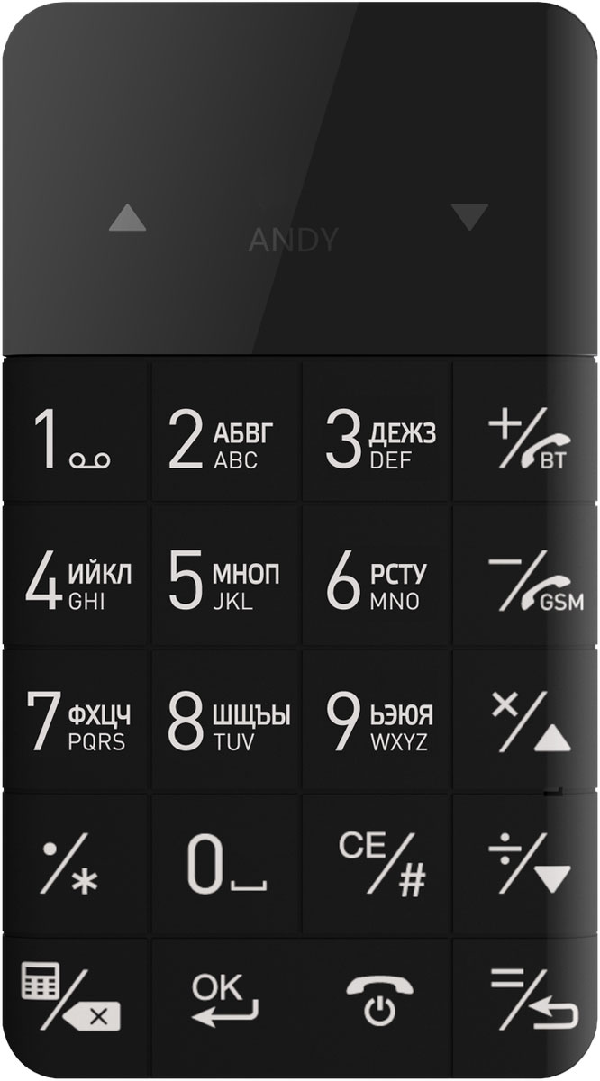 Elari CardPhone, Black - Мобильные телефоны