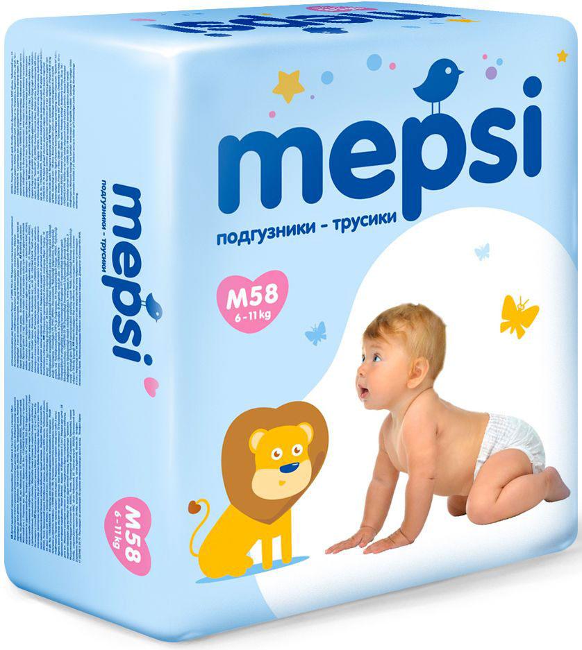 Mepsi Подгузники-трусики M (6-11 кг) 58 шт mepsi подгузники 4 9 кг 54 шт