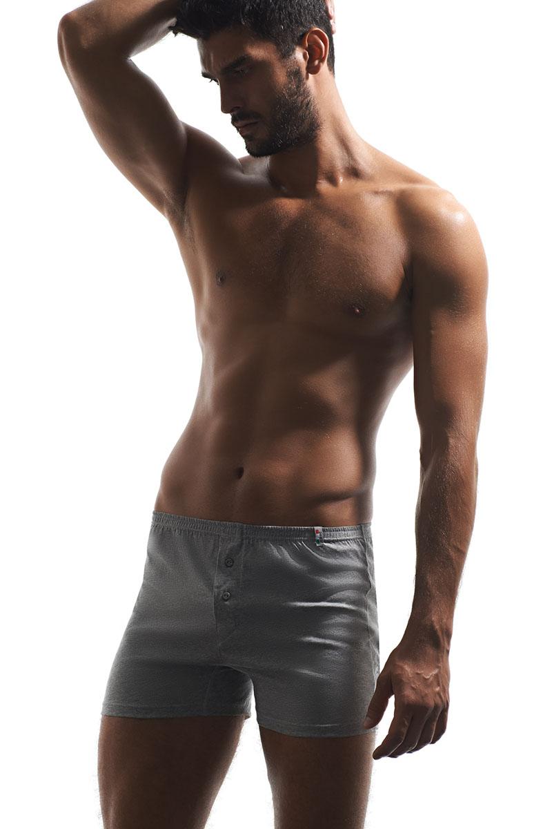 Трусы-боксеры мужские Griff, цвет: светло-серый. U01242. Размер XXL (52) [супермаркет] палладио jingdong мужское белье мужские трусы боксер [4] загружены моды печати хлопка мужское нижнее белье p034 смешивания xl 175 100
