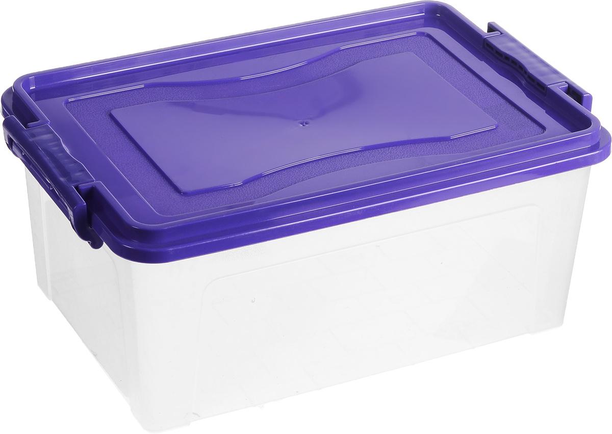 Контейнер для хранения Idea Микс, прямоугольный, цвет: прозрачный, фиолетовый, 14 лМ 2866Контейнер для хранения Idea Микс выполнен из высококачественного пластика. Контейнер снабжен двумя пластиковыми фиксаторами по бокам, придающими дополнительную надежность закрывания крышки. Вместительный контейнер позволит сохранить различные нужные вещи в порядке, а герметичная крышка предотвратит случайное открывание, защитит содержимое от пыли и грязи.