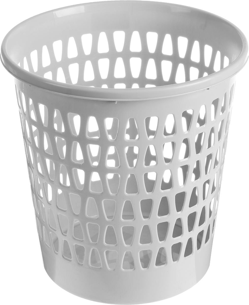 Корзина офисная Эльфпласт Вега, для мусора, цвет: серый, высота 28,5 см225Офисная корзина для мусора Эльфпласт Вега, изготовлена из высококачественного пластика. Вы можете использовать ее для выбрасывания разных пищевых и не пищевых отходов. Изделие имеет перфорацию на стенках и сплошное дно. Такая корзина поможет содержать ваше рабочее место в порядке.Диаметр (по верхнему краю): 27 см.Высота: 28,5 см.