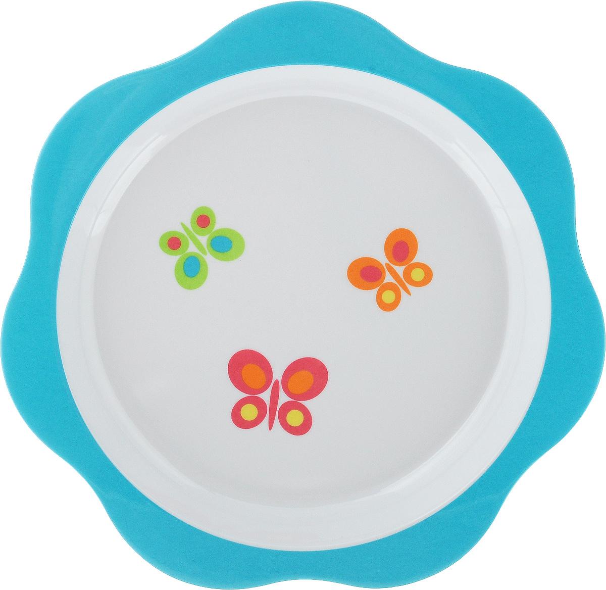 Тарелка детская Tescoma Bambini. Бабочки, цвет: голубой, белый, диаметр 22 см668012_голубойДетская тарелка Tescoma Bambini. Бабочки изготовлена из безопасного пластика.Тарелочка, оформленная веселой картинкой забавных бабочек, понравится и малышу, и родителям! Ребенок будет с удовольствием учиться кушать самостоятельно.Тарелочка подходит для горячей и холодной пищи. Можно использовать в посудомоечной машине. Нельзя использовать в микроволновой печи.Внешний диаметр тарелки: 22 см. Внутренний диаметр тарелки: 17,7 см.