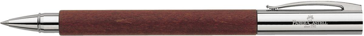 Faber-Castell Ручка роллер Ambition Birnbaum148111Роллер высшего качества:корпус изготовлен из грушевого дереваоба конца из хромированного шлифованного металлаупругий клипчерный стержень с быстросохнущими черниламииндивидуальная подарочная упаковка