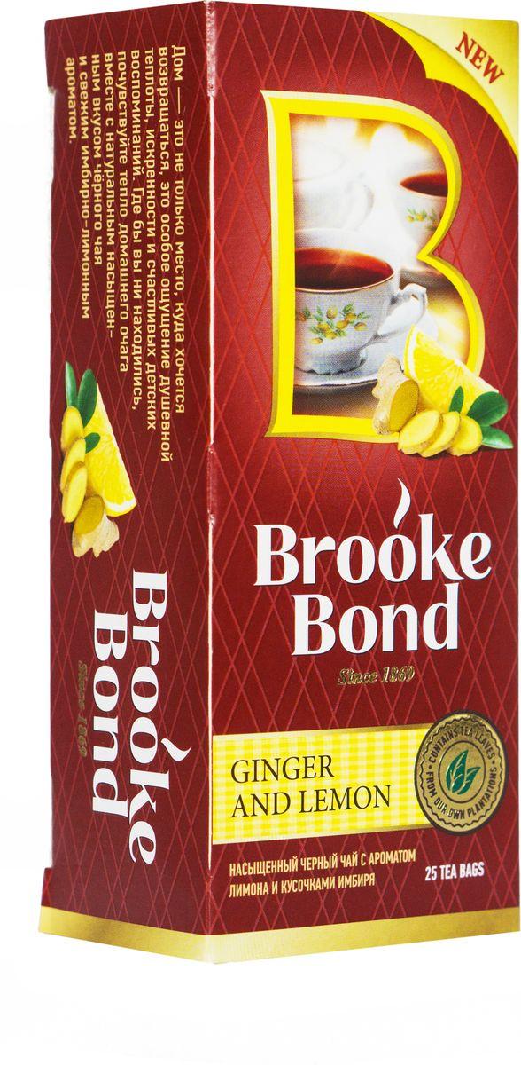 Brooke Bond Черный чай Имбирь и лимон 25 шт21072282Острый и бодрящий микс чая Brooke Bond с имбирем и лимоном повышает энергию и жизненный тонус и помогает сосредоточиться на главном!