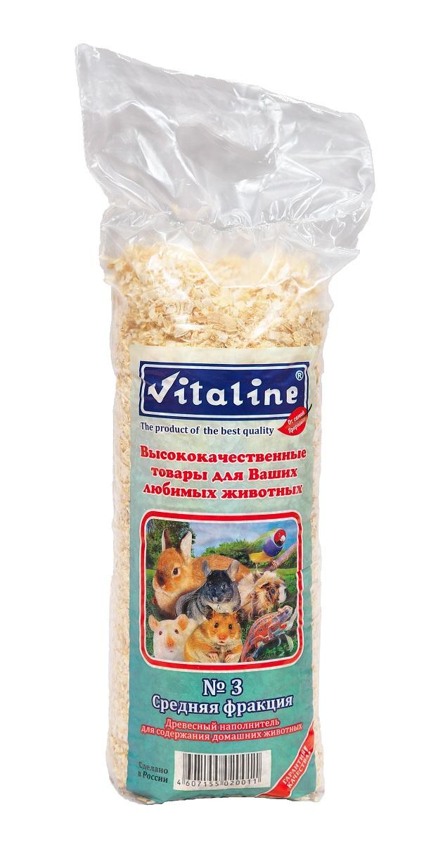 Наполнитель для туалета Vitaline Средняя фракция, на основе древесной стружки, 14,7 л